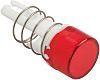 Embellecedor para botón pulsador Rojo Redondo para uso con Serie A8