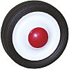 Black, Red Rubber Castor Wheels, 30kg