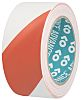 Advance Tapes AT8 Red/White PVC 33m Hazard Tape,