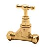 Pegler Yorkshire Brass Stopcock, 28mm Compression