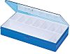 Licefa 9 Cell Blue, Transparent PS, Adjustable Compartment