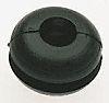 RS PRO Black PVC 6.4mm Round Cable Grommet