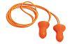 Howard Leight Corded Reusable Ear Plugs, 28dB, Orange,