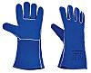 Blue Leather Welding Gloves 9 - L