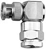 Telegartner 50Ω Right Angle Cable Mount BNC Connector,