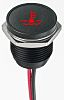 Apem Red Indicator, Lead Wires Termination, 12 V
