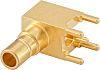 Rosenberger 50Ω Right Angle PCB Mount SMB ConnectorBulkhead