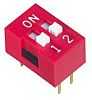 2 Way Through Hole DIP Switch DPST, Recessed