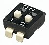 2 Way Surface Mount DIP Switch DPST, Raised,