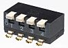 4 Way Surface Mount DIP Switch 4PST, Piano,