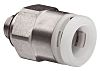 SMC Threaded-to-Tube Pneumatic Fitting R 1/8 to Push