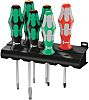 Wera Engineers Phillips, Slotted, Square Screwdriver Set 6