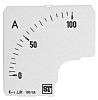 Sifam Tinsley Analogue Ammeter Scale, 100A, for use