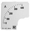 Sifam Tinsley Analogue Ammeter Scale, 400A, for use