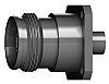 Telegartner 50Ω Straight Panel Mount 4.3-10 Connector, jack