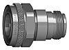 Straight 50Ω Coax Adapter 4.3-10 Plug to N