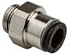 Legris Pneumatic Straight Threaded-to-Tube Adapter, G 3/8 Male
