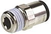 Legris Pneumatic Straight Threaded-to-Tube Adapter, R 3/8 Male