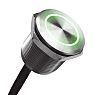 Illuminated Grey Wire Lead Piezo Switch, , IP68,