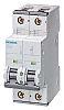 Siemens Sentron 63A MCB Mini Circuit Breaker2P Curve C, Breaking Capacity 10 kA