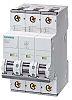 Siemens Sentron 50A MCB Mini Circuit Breaker3P Curve B, Breaking Capacity 10 kA