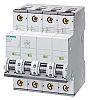 Siemens Sentron 5SY4 Sicherungsautomat, Leitungsschutzschalter Typ B, 4-polig 32A, Abschaltvermögen 10 kA