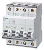 Siemens Sentron 63A MCB Mini Circuit Breaker4P Curve B, Breaking Capacity 10 kA