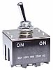 NKK Switches 3PDT Toggle Switch, Latching, Panel Mount
