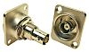 RS PRO 50Ω Straight Rear Mount BNC Connector,