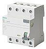Siemens, 63A Instantaneous RCD, Trip Sensitivity 300mA, Type A, DIN Rail