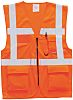 RS PRO Orange Hi Vis Vest, L
