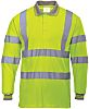 RS PRO Yellow Unisex Hi Vis Polo Shirt,
