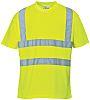 RS PRO Yellow Unisex Hi Vis T-Shirt, S