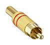 Lumberg Gold, Red RCA Plug with Gold Plated