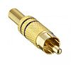 RCA PLUG, GOLD PLATED, BLACK