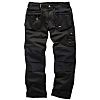 Scruffs Worker Plus Black Men's Cotton, Polyester Trousers