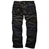 Scruffs Worker Plus Black Men's Cotton, Polyester Trousers