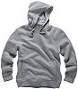 Scruffs Worker Grey Men's Hooded Cotton, Polyester Hoodie