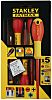 Stanley VDE Slotted; Pozidriv Screwdriver Set 5 Piece