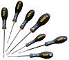 Stanley Standard Flared, Parallel, Phillips Screwdriver Set 7