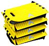 RS PRO Yes Black, Yellow Polyurethane Speed Bump,