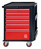 RS PRO 6 drawer Steel WheeledTool Chest, 975mm