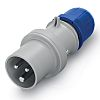 RS PRO IP44 Blue Cable Mount 2P+E Industrial