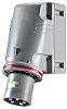 RS PRO IP44 Red Wall Mount 3P+N+E Industrial