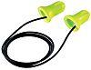 Uvex Hi-com Corded Disposable Ear Plugs, 24dB, Green,