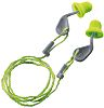 Uvex xact-fit Corded Reusable Ear Plugs, 26dB, Green,