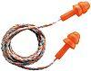 Uvex whisper Corded Reusable Ear Plugs, 23dB, Orange,