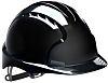 JSP EVO2 Adjustable Black Hard Hat, Ventilated