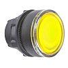 Schneider Electric Flush Yellow - Momentary, Harmony XB5 Series, 22mm Cutout, Round
