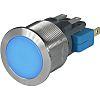 Schurter Single Pole Double Throw (SPDT) Momentary Blue